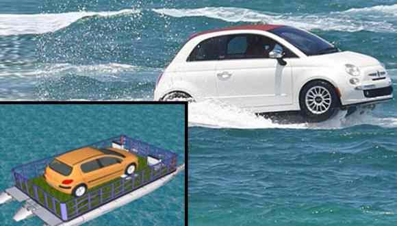 Karadeniz'den Suyun Üzerinde Giden Araba!