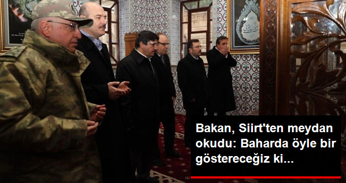 İçişleri Bakanı Süleyman Soylu'dan PKK'ya Hodri Meydan