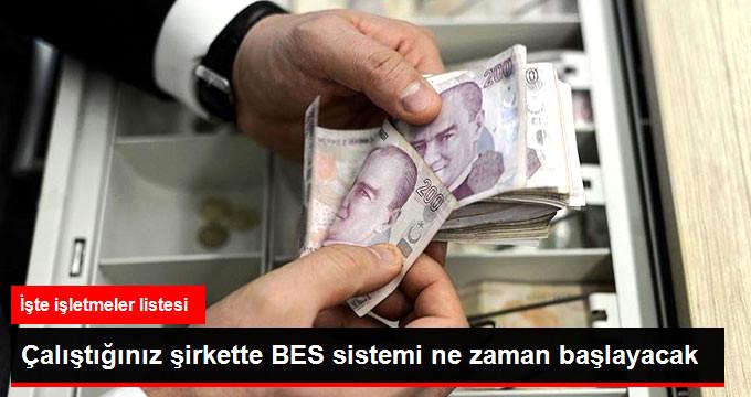BES Sistemi İlk Olarak Bin Kişilik İşletmelerden Başlayacak
