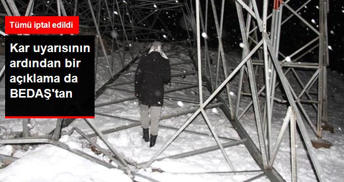 BEDAŞ Planlı Elektrik Kesintilerini İptal Etti