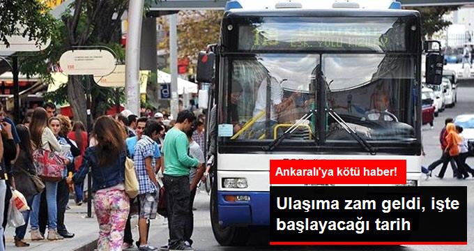 Ankara'da Toplu Taşıma Ücretlerine Yüzde 6,3 Zam Geldi