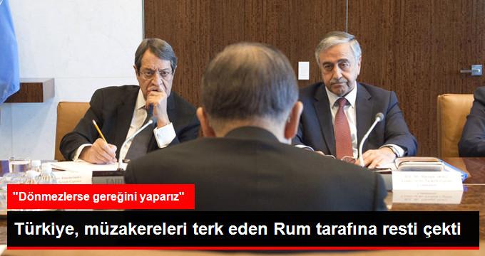 Görüşme Masasından Kalkan Rum Lidere Bakan Çavuşoğlu'ndan Tepki