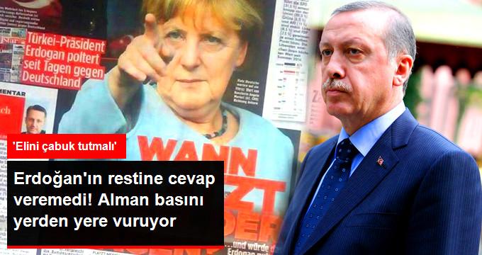 Alman Basını Merkel'in Erdoğan'a Cevapsız Kalmasını Eleştiriyor