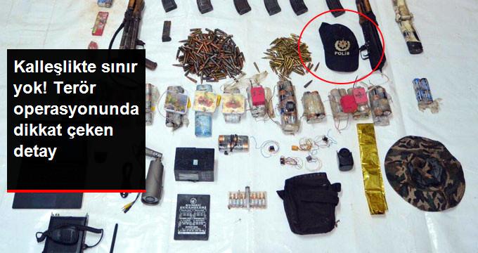 PKK'ya Yapılan Operasyonda Polis Şapkası Ele Geçirildi