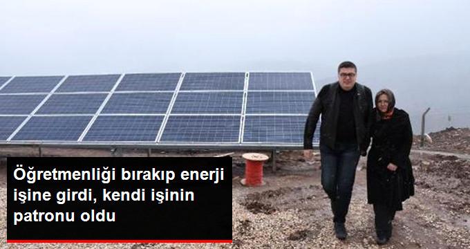 Güneş Enerjisinden Elektrik Üretmek İçin Tesis Kurdu