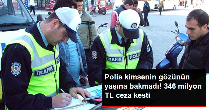 İstanbul'da 346 Milyon Lira Trafik Cezası Kesildi