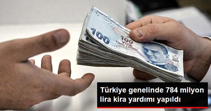 Türkiye'de 784 Milyon Lira Kira Yardımı Yapıldı