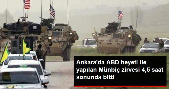 Ankara'da ABD Heyeti ile Yapılan Münbiç Toplantısı Bitti