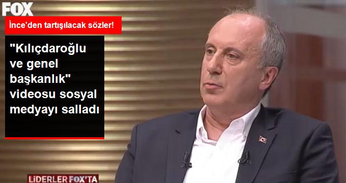 İnce: Kılıçdaroğlu'nun Karşısında Asla Aday Olmam!