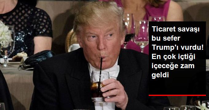 Trump'un En Fazla İçtiği İçeceğe Zam Geldi