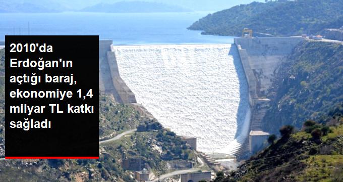 Adnan Menderes Barajı 8 Yılda 1,4 Milyar Kazandırdı