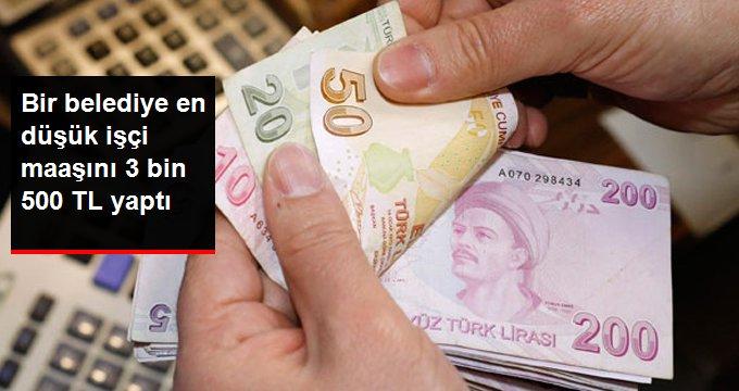 En Düşük İşçinin Maaşı 3 Bin 500 Lira Oldu