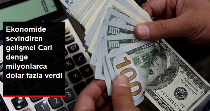 Cari denge Temmuz'da 1,16 milyar Dolar fazla verdi