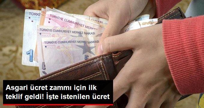 Asgari Ücrette İlk Teklif Türk-İş'ten