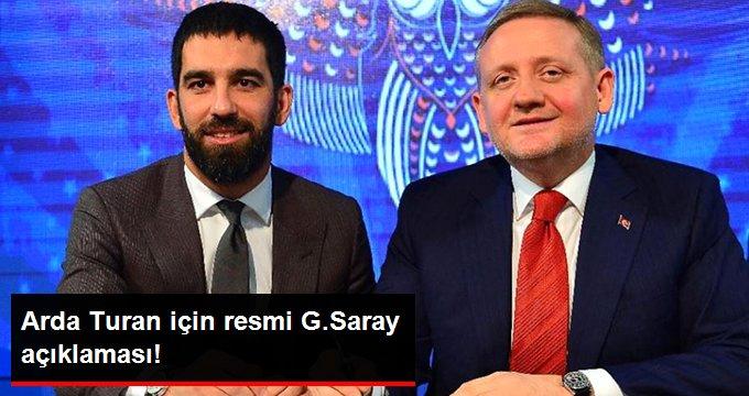 Arda Turan için resmi G.Saray açıklaması