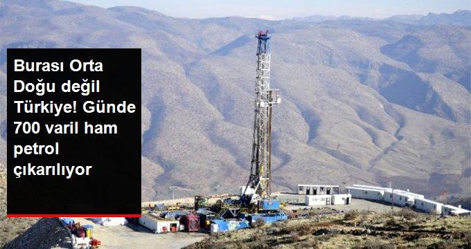 Siirt'te günde 700 varil ham petrol çıkarılıyor