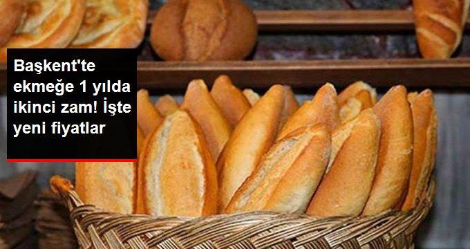 Ankara'da Ekmeğe Bir Yılda İkinci Zam Geldi