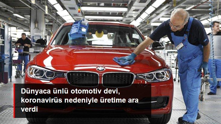 Alman Otomotiv Devi BMW, Koronavirüs Nedeniyle Üretime Ara Verdi