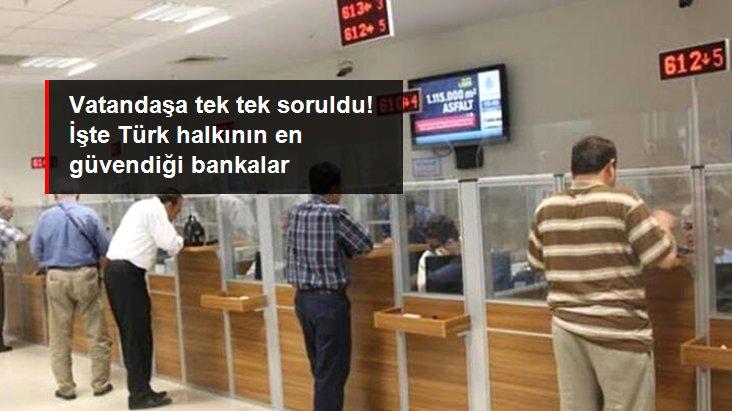 İşte Türk Halkının En Güvendiği Bankalar