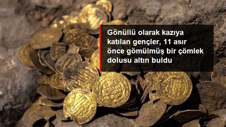 1100 Yıl Önce Gömülmüş 425 Adet Altın Para Buldu