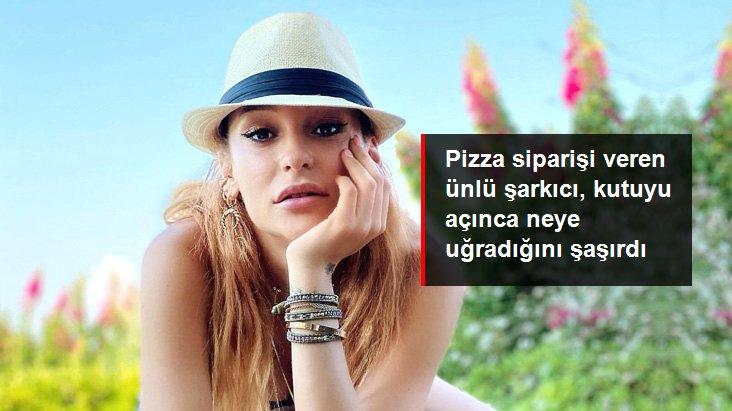 Sipariş Verdiği Pizzadan Tel Çıkan Şarkıcı Alya İsyan Etti